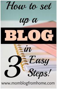 set up a blog in 3 easy steps