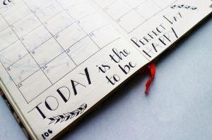 planner on desk - mom blog from home