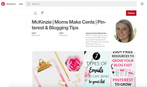 McKinzie's following - mom blog from home