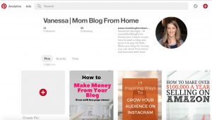 Mom blog from home Pinterest