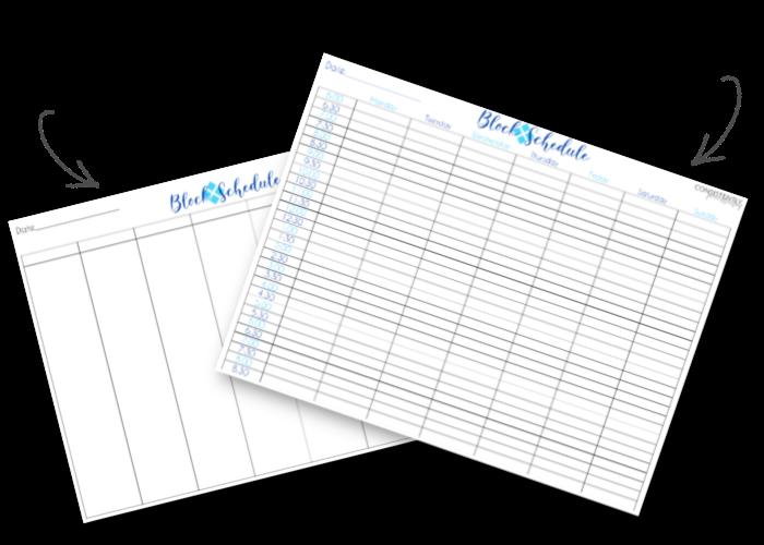Block Schedule Freebies